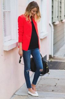40 Womens red blazer jackets ideas 37