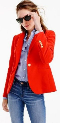 40 Womens red blazer jackets ideas 6