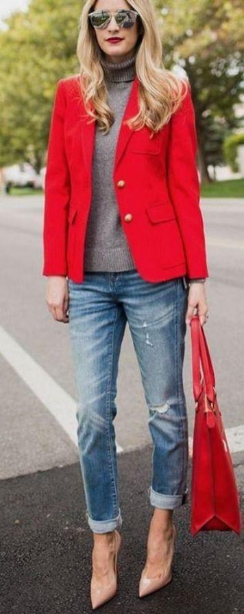 40 Womens red blazer jackets ideas 8