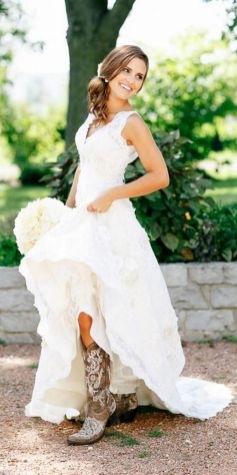 40 wedding dresses country theme ideas 16