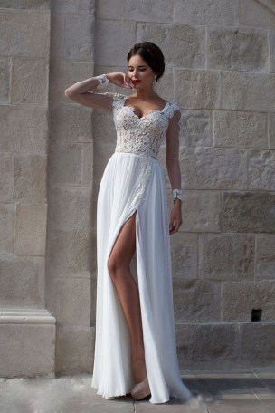 50 simple and sexy wedding dresses for the beach 20