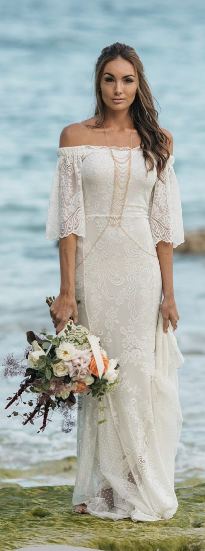 50 simple and sexy wedding dresses for the beach 26