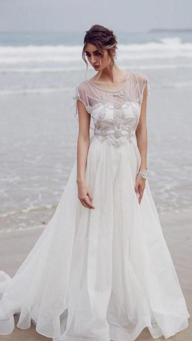 50 simple and sexy wedding dresses for the beach 27