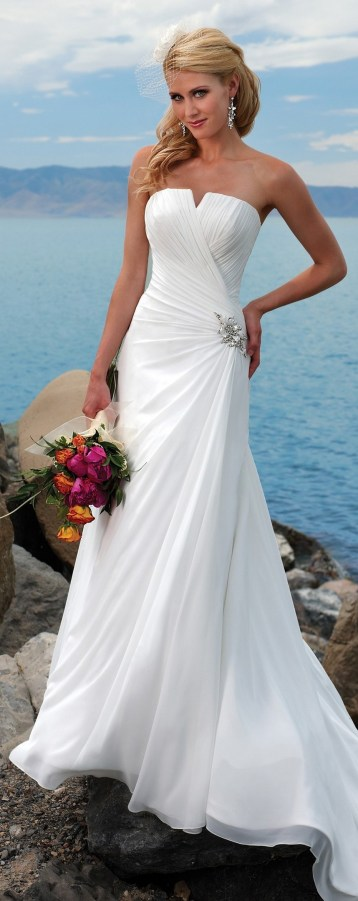 50 simple and sexy wedding dresses for the beach 43
