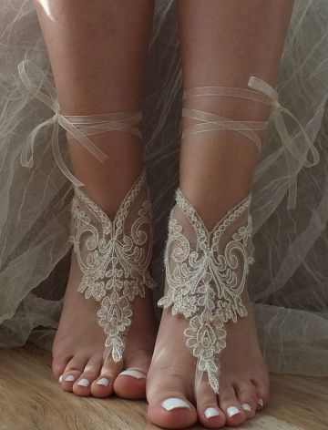 Beach Wedding Shoes and Sandals ideas 21