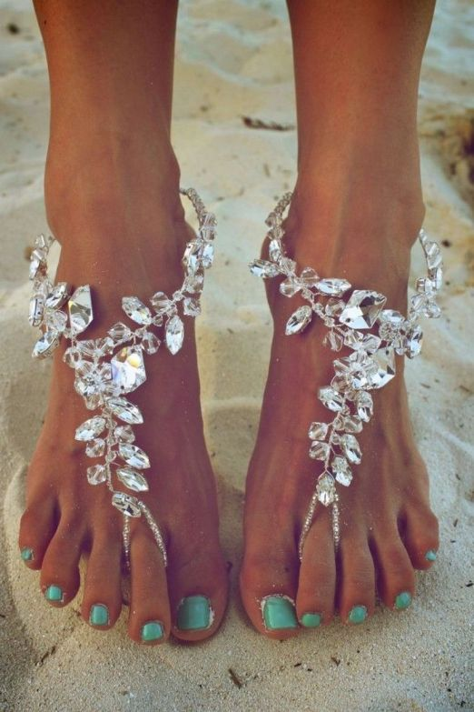 Beach Wedding Shoes and Sandals ideas 26