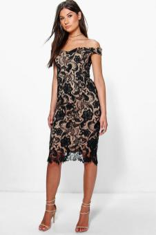 Classy evening shoulder lace dress for all special events 12