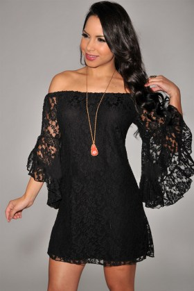 Classy evening shoulder lace dress for all special events 14