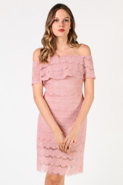 Classy evening shoulder lace dress for all special events 23