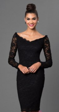 Classy evening shoulder lace dress for all special events 39