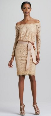 Classy evening shoulder lace dress for all special events 41