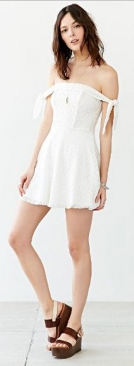 Classy evening shoulder lace dress for all special events 46
