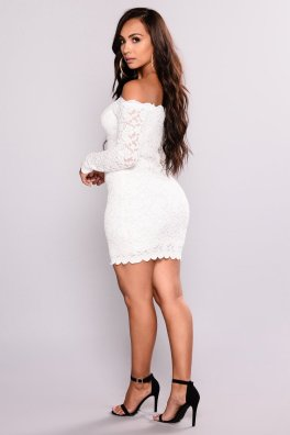 Classy evening shoulder lace dress for all special events 55