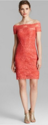 Classy evening shoulder lace dress for all special events 6