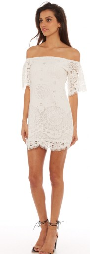 Classy evening shoulder lace dress for all special events 7