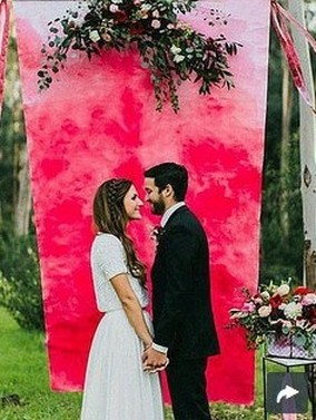Creative And Fun Wedding day Reception Backdrops You Like Ideas 11