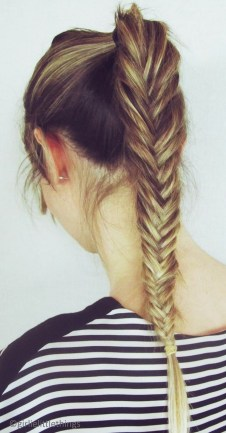 Fishtail Hairstyles for all situations 31