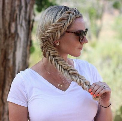 Fishtail Hairstyles for all situations 45