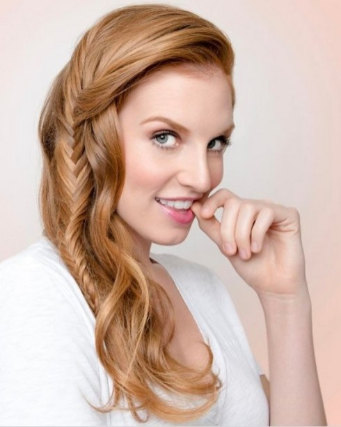 Fishtail Hairstyles for all situations 7