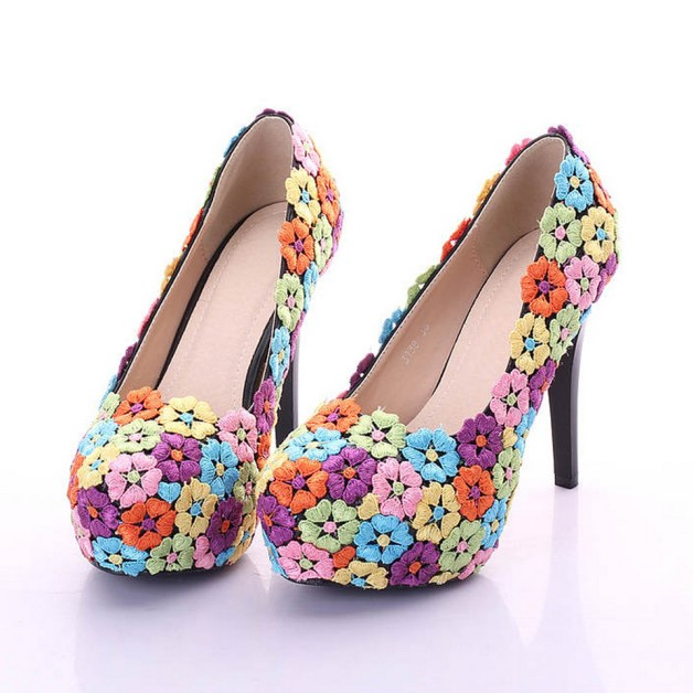 Floral Wedding Shoes Ideas You Never Seen Before 18