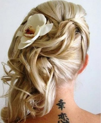 Hairstyles for long hair at wedding Ideas 10