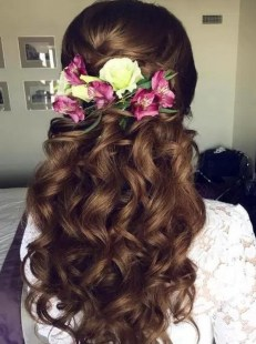 Hairstyles for long hair at wedding Ideas 14