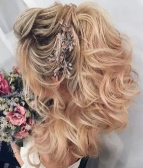 Hairstyles for long hair at wedding Ideas 15