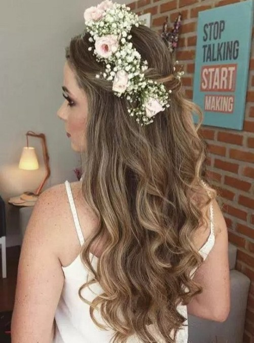 Hairstyles for long hair at wedding Ideas 17