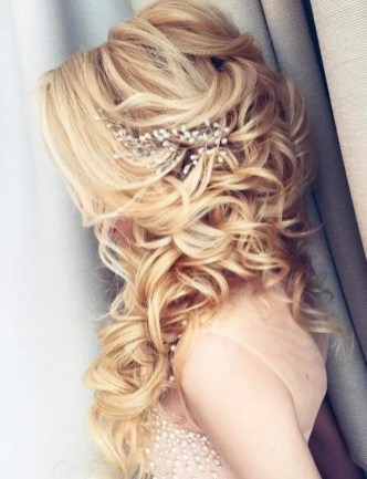 Hairstyles for long hair at wedding Ideas 20