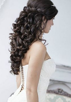 Hairstyles for long hair at wedding Ideas 5