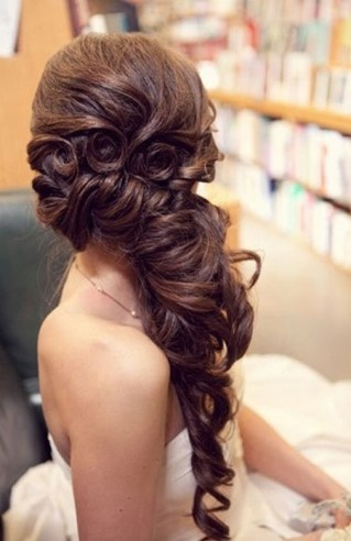 Hairstyles for long hair at wedding Ideas 53