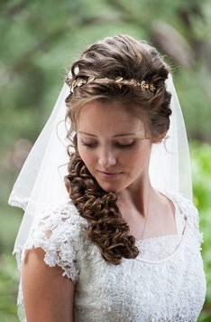 Hairstyles for long hair at wedding Ideas 54
