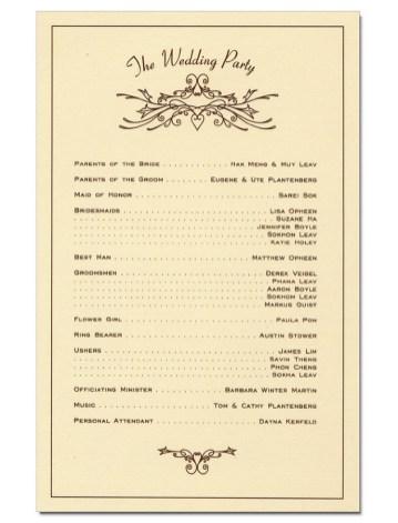 Simple Wedding Reception Program Sample Ideas 1