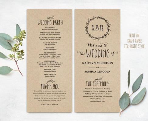 Simple Wedding Reception Program Sample Ideas 12