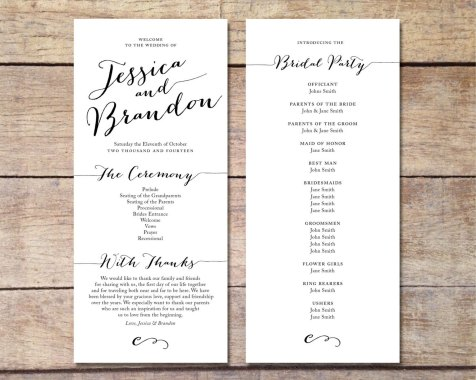 Simple Wedding Reception Program Sample Ideas 14