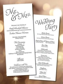 Simple Wedding Reception Program Sample Ideas 17