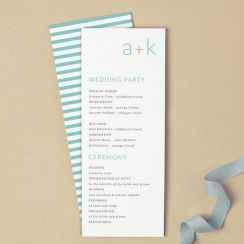 Simple Wedding Reception Program Sample Ideas 2