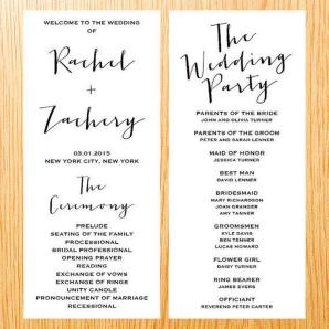 Simple Wedding Reception Program Sample Ideas 21