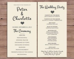 Simple Wedding Reception Program Sample Ideas 22
