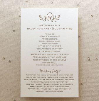Simple Wedding Reception Program Sample Ideas 26