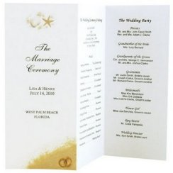Simple Wedding Reception Program Sample Ideas 3