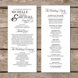 Simple Wedding Reception Program Sample Ideas 32