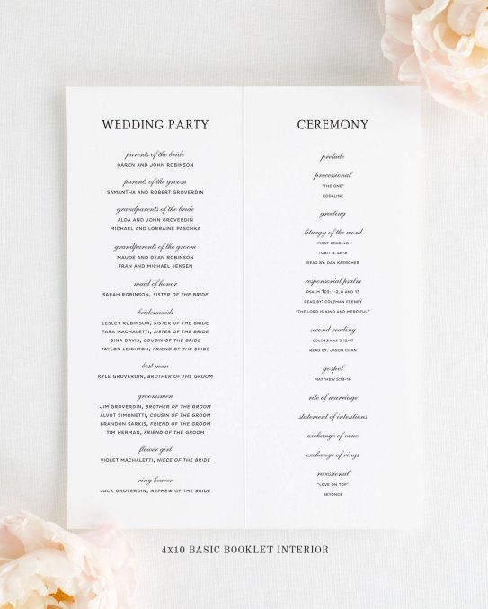 Simple Wedding Reception Program Sample Ideas 5