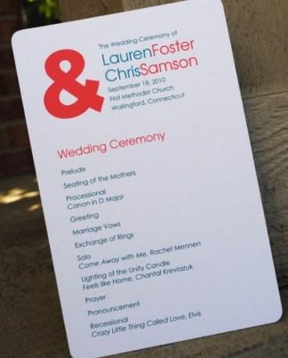 Simple Wedding Reception Program Sample Ideas 8