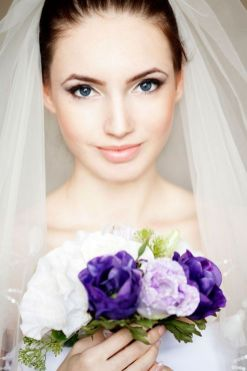 Soft and Romantic wedding makeup looks for fair skin 5