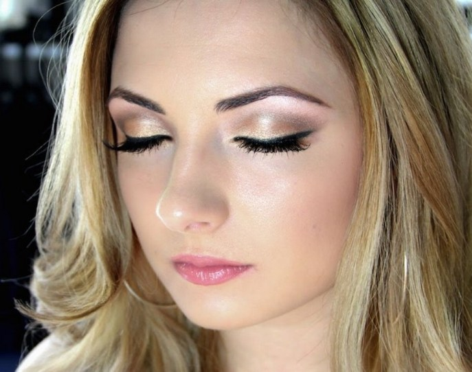 Soft and Romantic wedding makeup looks for fair skin 9