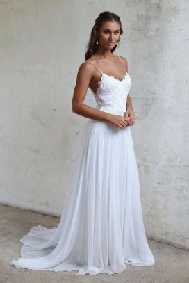 Spaghetti Strap Wedding Day Dresses Gowns ideas 10