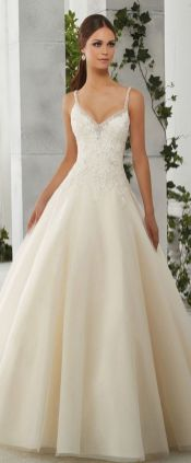 Spaghetti Strap Wedding Day Dresses Gowns ideas 24