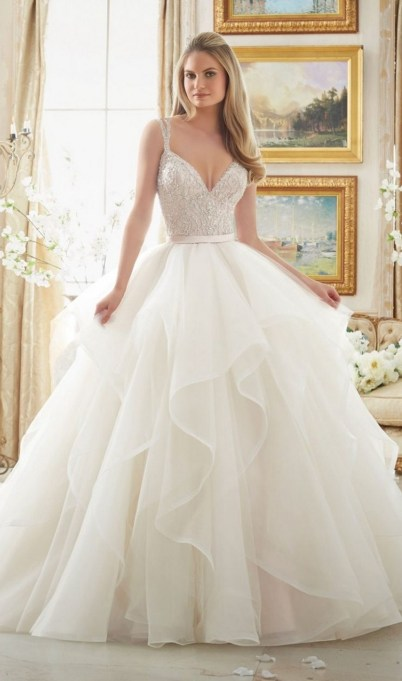 Spaghetti Strap Wedding Day Dresses Gowns ideas 31