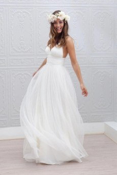 Spaghetti Strap Wedding Day Dresses Gowns ideas 4